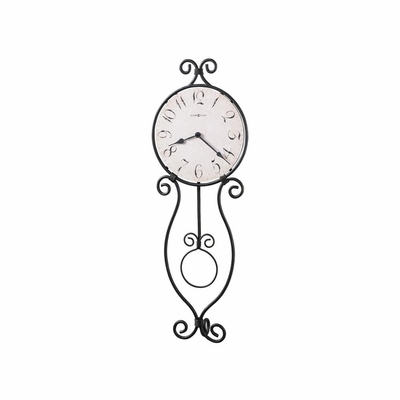 Loretta Wrought Iron Wall Clock in Gray - Howard Miller
