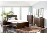 Lorretta California King Size Bedroom Furniture Set in Deep Brown - Coaster - 201511KW-BSET