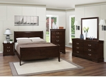 Louis Philippe 202 5PC Cappuccino Queen Bedroom Set - 202411Q