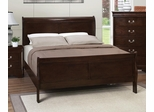 Louis Philippe 202 King Sleigh Bed in Cappuccino - 202411KE