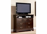 Louis Philippe Cappuccino Media Chest - 203986N
