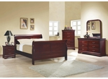 Louis Philippe Cherry Queen Size 5PC Bedroom Set - 203971Q