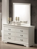 Louis Philippe Dresser with Mirror in White - Coaster - 201693-94-SET