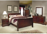 Louis Philippe Eastern King Size Bedroom Furniture Set in Cherry - Coaster - 200431KE-BSET