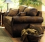 Loveseat 8-Way-Hand-Tied in Brown Bomber-Jacket Microfiber - 9936M-2