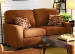 Loveseat 8-Way-Hand-Tied in Red Chenille - 9837CN-2