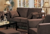 Loveseat in Bella Velvet in Chocolate Fabric - Coaster