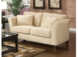 Loveseat in Bella Velvet in Stone Fabric - Coaster