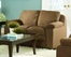 Loveseat in Brown Microfiber - 9840BR-2