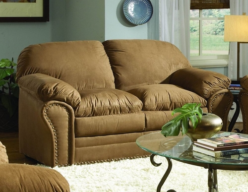 Loveseat in Brown Microfiber - 9841BR-2
