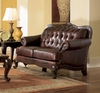 Loveseat in Brown Tri-Tone Leather - Coaster