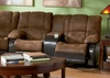 Loveseat in Palomino Brown Fabric with Dark Brown - Coaster