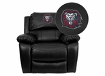 Loyola Marymount University Lions Black Leather Rocker Recliner - MEN-DA3439-91-BK-41050-EMB-GG