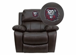 Loyola Marymount University Lions Brown Leather Rocker Recliner  - MEN-DA3439-91-BRN-41050-EMB-GG