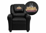 Loyola University Chicago Ramblers Black Vinyl Kids Recliner - DG-ULT-KID-BK-45014-EMB-GG