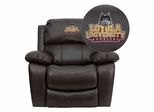 Loyola University Chicago Ramblers Brown Leather Rocker Recliner - MEN-DA3439-91-BRN-45014-EMB-GG