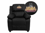 Loyola University Chicago Ramblers Embroidered Leather Kids Recliner - BT-7985-KID-BK-LEA-45014-EMB-GG