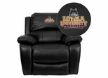 Loyola University Chicago Ramblers Leather Rocker Recliner  - MEN-DA3439-91-BK-45014-EMB-GG