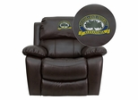 LSU Alexandria Generals Brown Leather Rocker Recliner  - MEN-DA3439-91-BRN-41049-EMB-GG