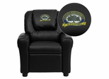 LSU Alexandria Generals Embroidered Black Vinyl Kids Recliner - DG-ULT-KID-BK-41049-EMB-GG