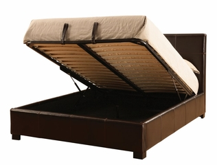 Lucca Queen Size Storage Bed - Hudson - Modus Furniture - LU08F5