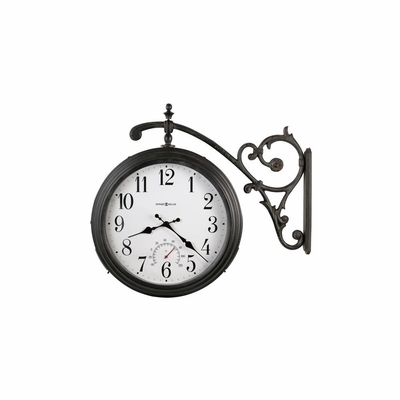 Luis Indoor / Outdoor Wall Clock with Thermometer - Howard Miller