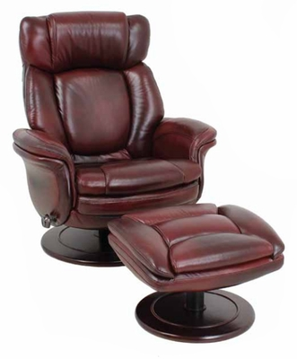 Lumina ll Pedestal Recliner in Traverse Burgundy - 158000348125