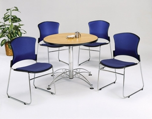 Lunchroom Table and Chairs Set 36 inch Round  - OFM - LSET-1
