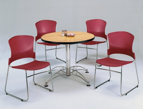 Lunchroom Table and Chairs Set 36 inch Round  - OFM - LSET-2