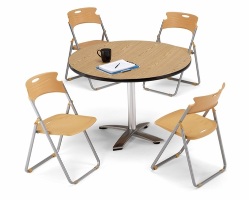 Lunchroom Table and Chairs Set 42 inch Round - OFM - LSET-7