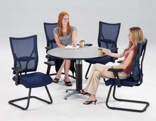 Lunchroom Table and Chairs Set 42 inch Round - OFM - LSET-9