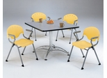 Lunchroom Table and Chairs Set 42 inch Square - OFM - LR-SET-1