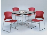 Lunchroom Table and Chairs Set 42 inch Square - OFM - LSET-4