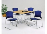 Lunchroom Table and Chairs Set 42 inch Square - OFM - LSET-5
