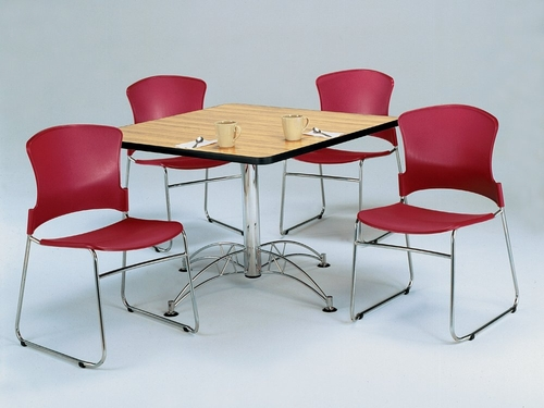 Lunchroom Table and Chairs Set 42 inch Square - OFM - LSET-6