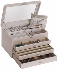 Lyndon Glass Top Locking Jewelry Box - 63530