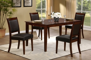 Lyndon Lane 5-Piece Dining Set with Upholstered Chairs - Hillsdale Furniture - 4789DTBCU