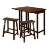Lynnwood 3Pc High Drop Leaf Table Set - Winsome Trading - 94384