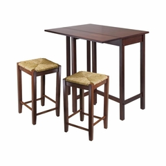 Lynwood 3Pc Drop Leaf Dining Set - Winsome Trading - 94347