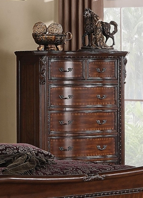 Maddison Drawer Chest in Brown cherry - 202265