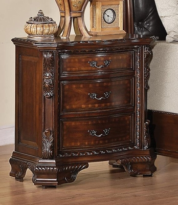 Maddison Nightstand in Brown Cherry - 202262
