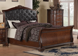 Maddison Sleigh Bed w/ Upholstered Headboard - 202261Q