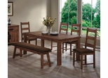 Maddox 6 Piece Dining Set in Rustic Oak Brown - 103471