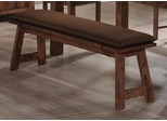 Maddox Dining Bench in Rustic Oak Brown - 103473