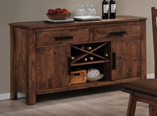 Maddox Dining Server in Rustic Oak Brown - 103475