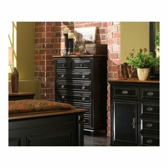 Madison 7 Drawer Chest Black and Cherry - Largo - LARGO-ST-B1251A-30