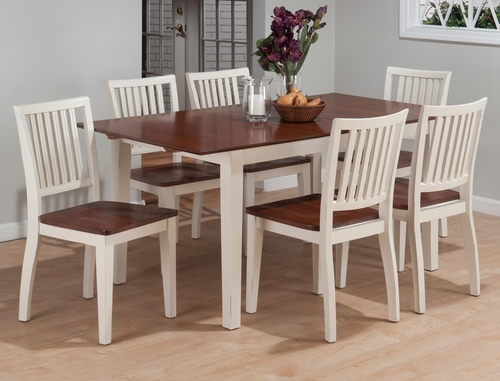 Madison County 7PC Dining Set with Salem Slatback Chairs - 141-66