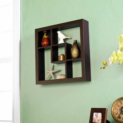 SEI Madison Display Shelf Espresso 16