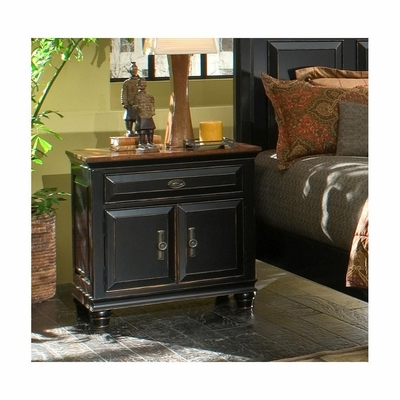 Madison Nightstand Black and Cherry - Largo - LARGO-ST-B1251A-40
