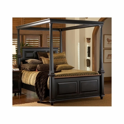 Madison Poster Bed Black and Cherry - Largo - LARGO-ST-B1251A-POSTER